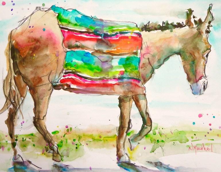 """within walking distance"" original fine art by Nora MacPhail"