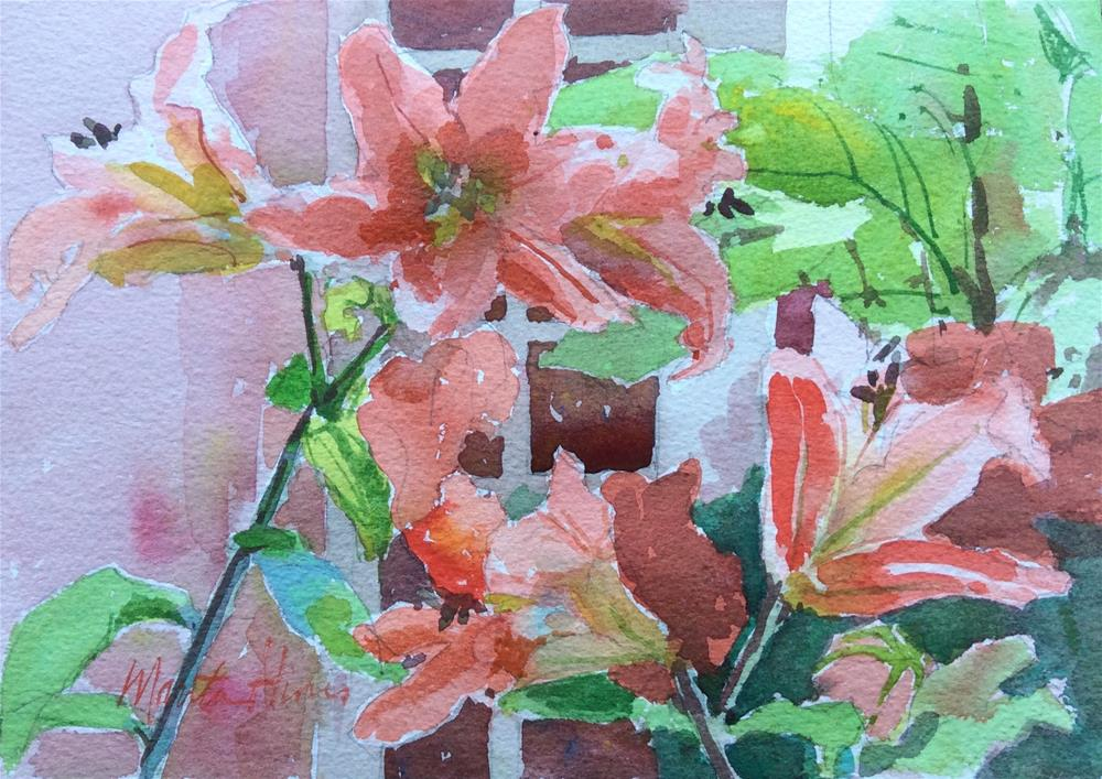 """Day Lilies"" original fine art by Marita Hines"