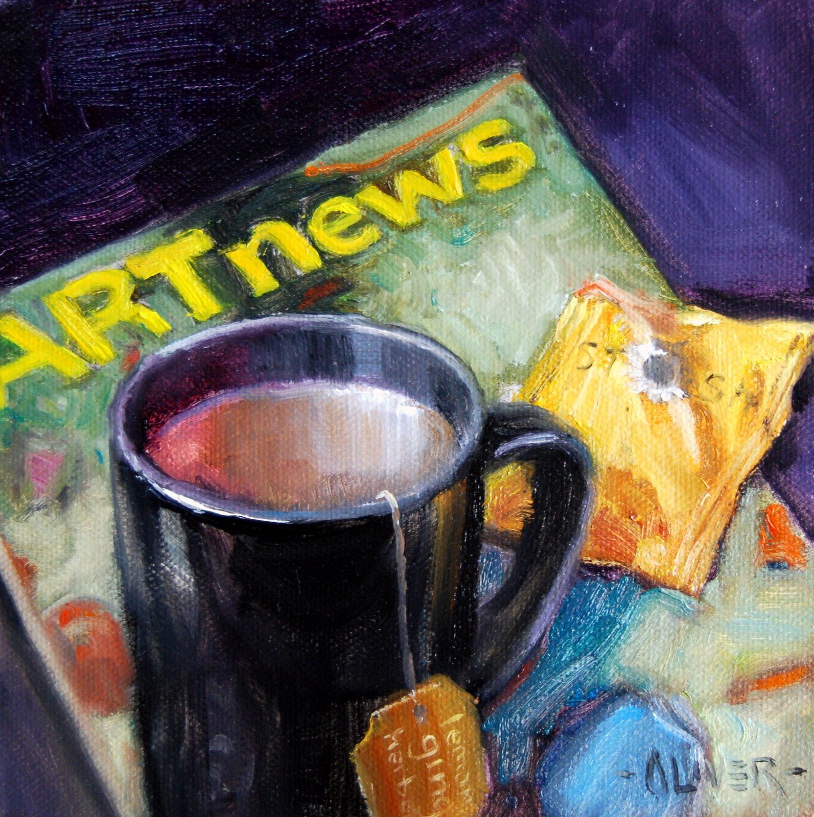 """""""Ginger Tea"""" original fine art by Julie Ford Oliver"""