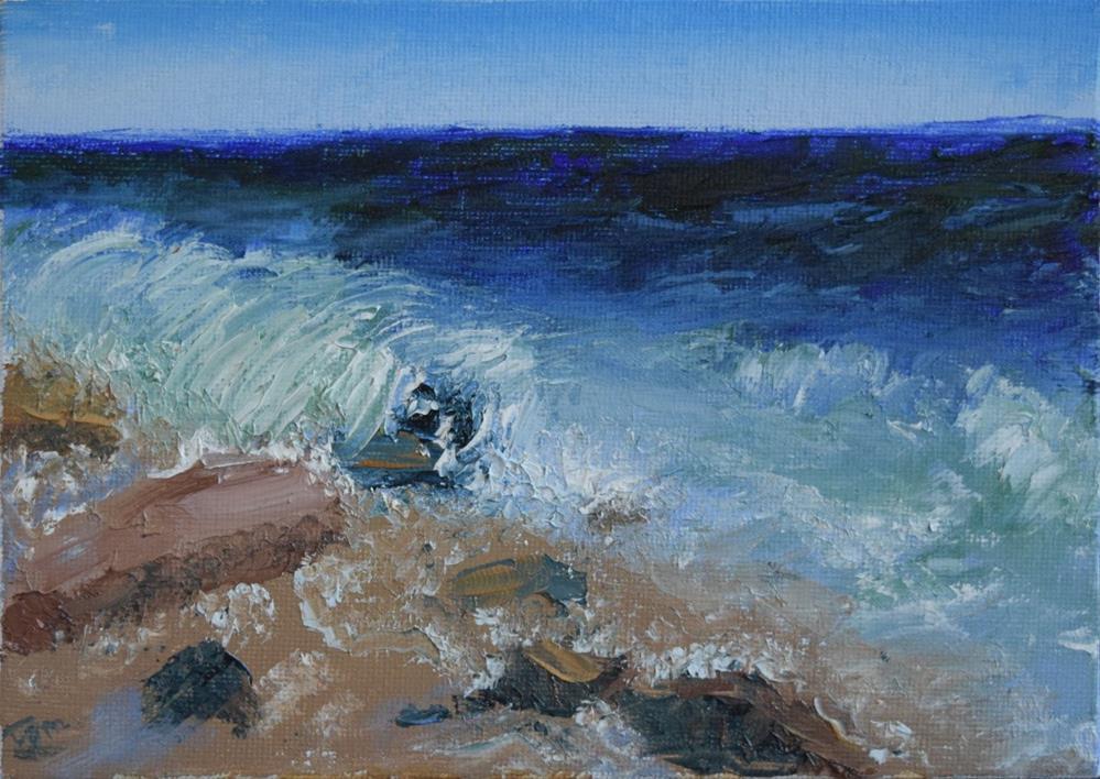 """Rocky Beach"" original fine art by Tisha Mark"