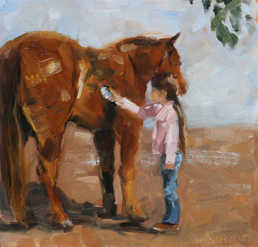 """""""Getting the dust out"""" original fine art by Miranda Dalessi"""
