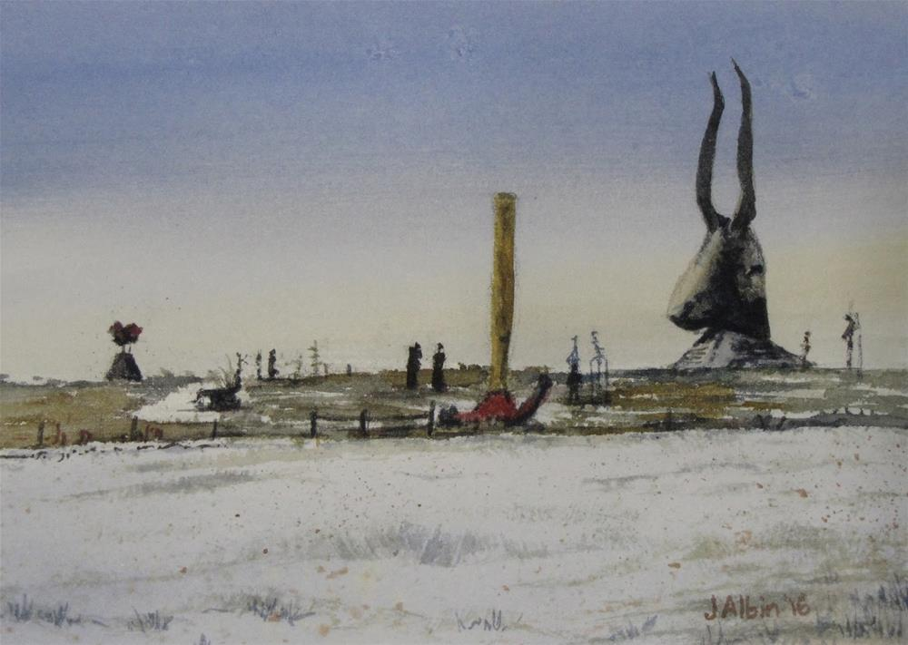 """Porter Sculpture Park, SD"" original fine art by Jane Albin"