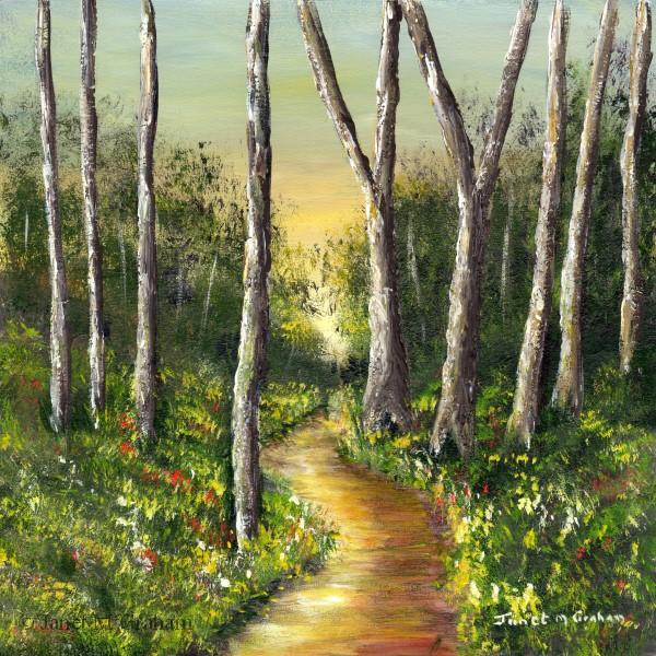 """Summer Glow"" original fine art by Janet Graham"