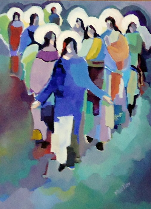 """""""Never Too Many"""" original fine art by Laurie Mueller"""