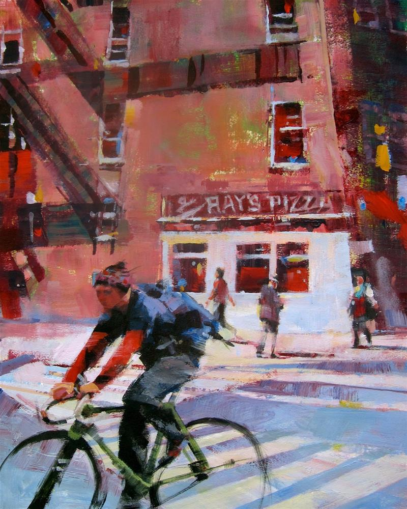"""Ray's Pizza Route"" original fine art by Patti Mollica"