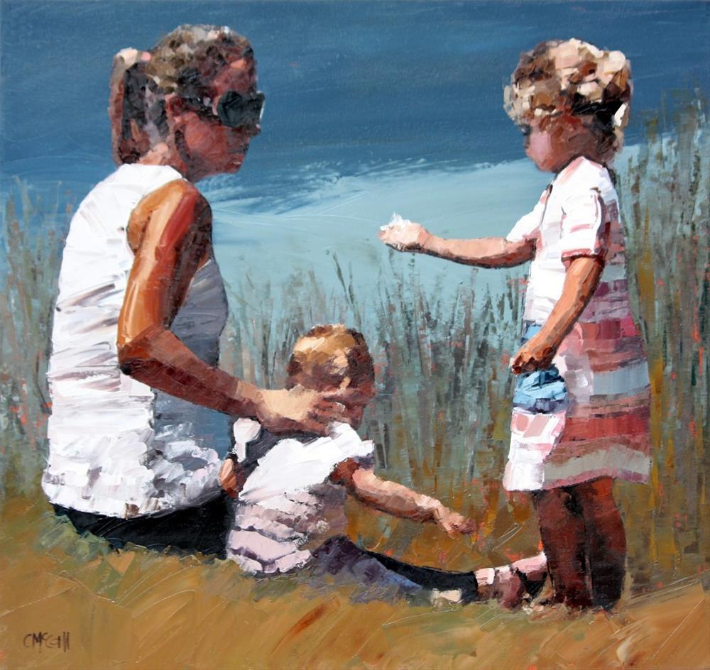 """Beachside VII"" original fine art by Claire McCall"