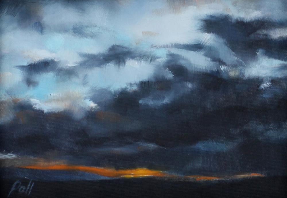 """Sunset Storm (framed)"" original fine art by Pamela Poll"