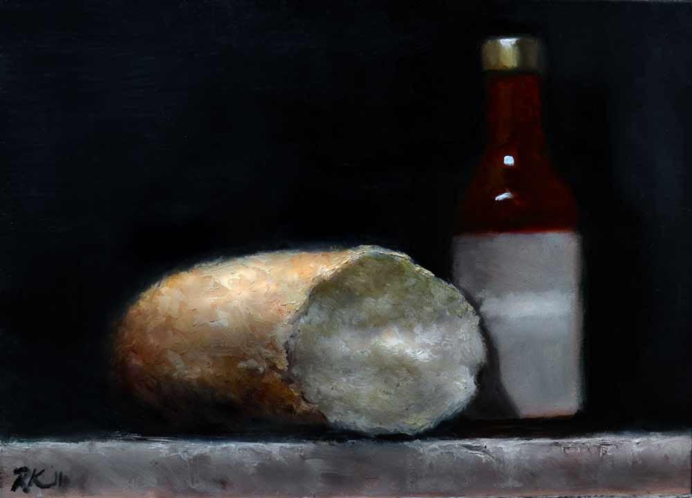 """Sauce and Bread"" original fine art by Bob Kimball"