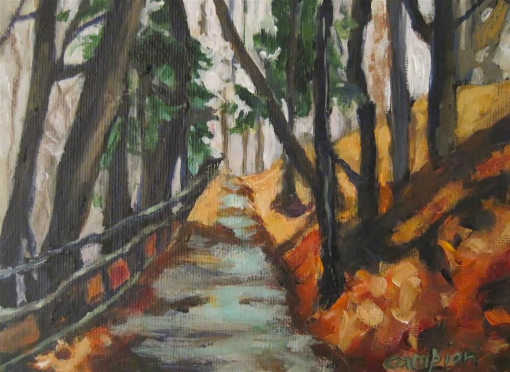 """""""245.  Path to Tranquility"""" original fine art by Diane Campion"""