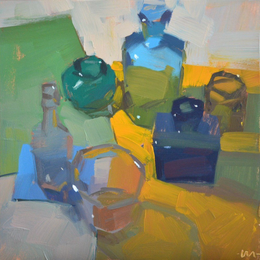"""Glass Gathering"" original fine art by Carol Marine"