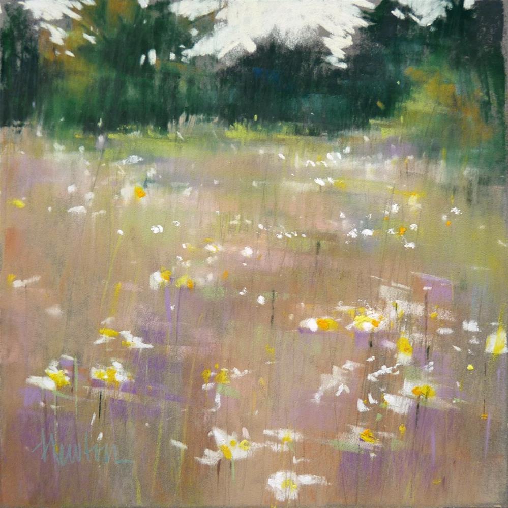 """Meadow Lights"" original fine art by Barbara Benedetti Newton"