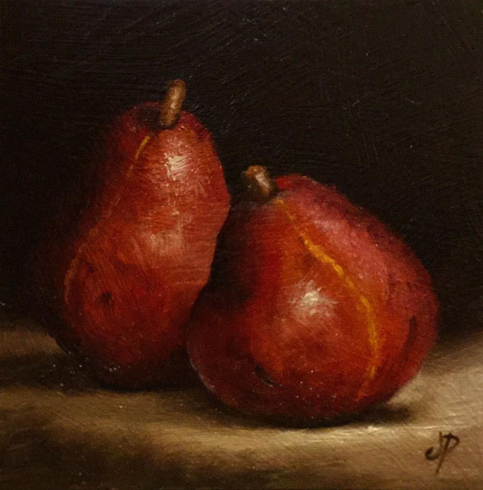 """Red Anjou Pears"" original fine art by Jane Palmer"