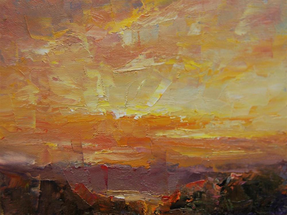 """""""Desert Sunrise"""" original fine art by Julie Ford Oliver"""