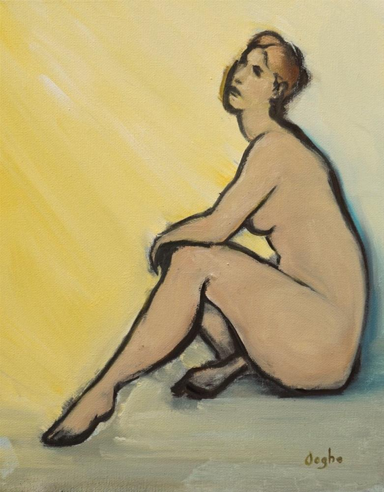 """Woman Basking"" original fine art by Angela Ooghe"