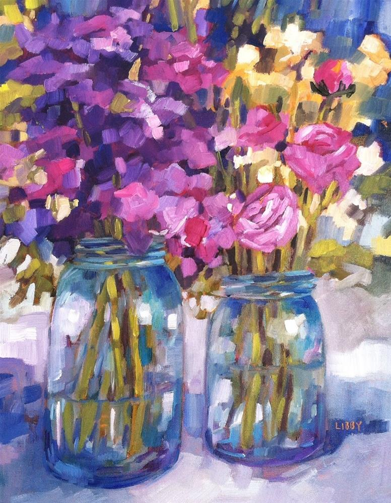 """It Takes Two"" original fine art by Libby Anderson"