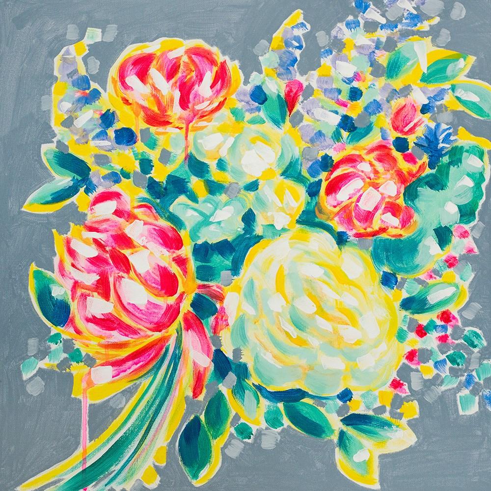 """Cubist Peony"" original fine art by Franziska Schwade"