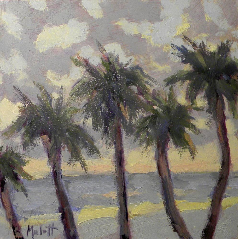 """""""Palms at Dawn"""" original fine art by Heidi Malott"""
