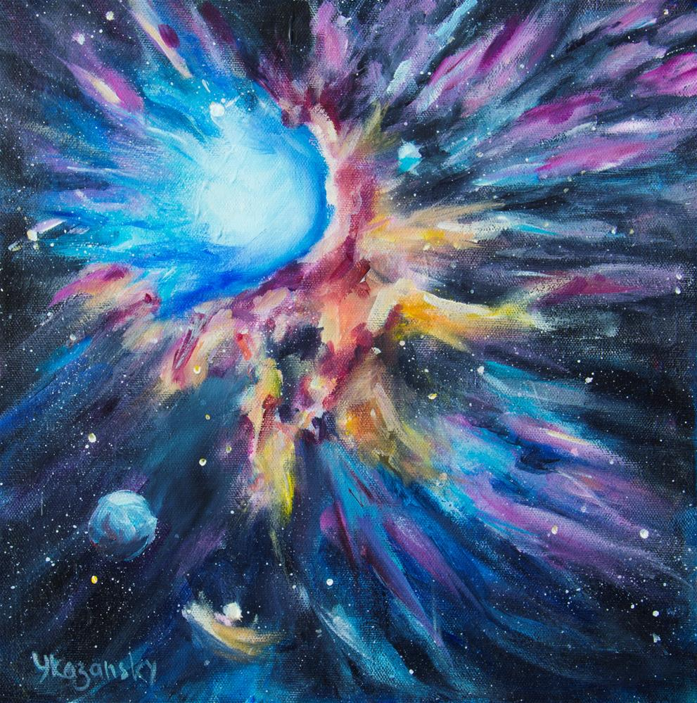 """Stellar Nursery"" original fine art by Yulia Kazansky"