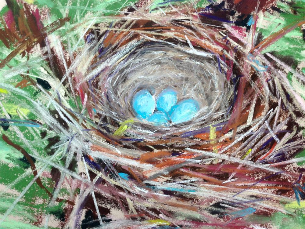 """Springtime"" original fine art by Michelle Wells Grant"