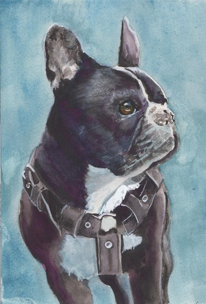 """""""French Bull Dog"""" original fine art by Bunny Griffeth"""