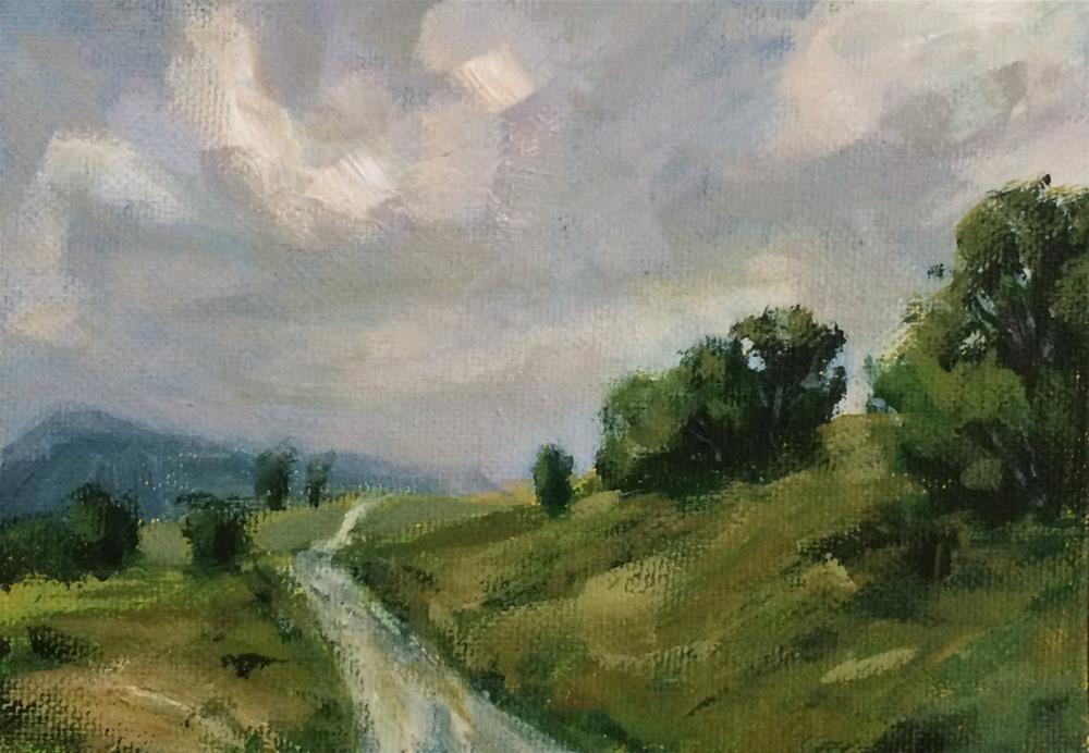 """Rolling Road"" original fine art by Shannon Bauer"