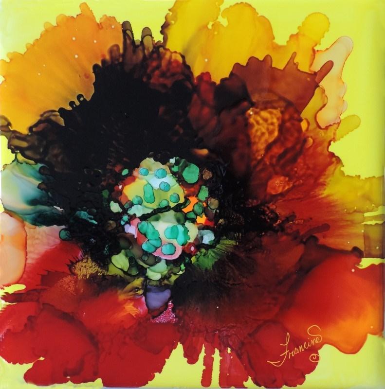 """Wild Flower"" original fine art by Francine Dufour~Jones"