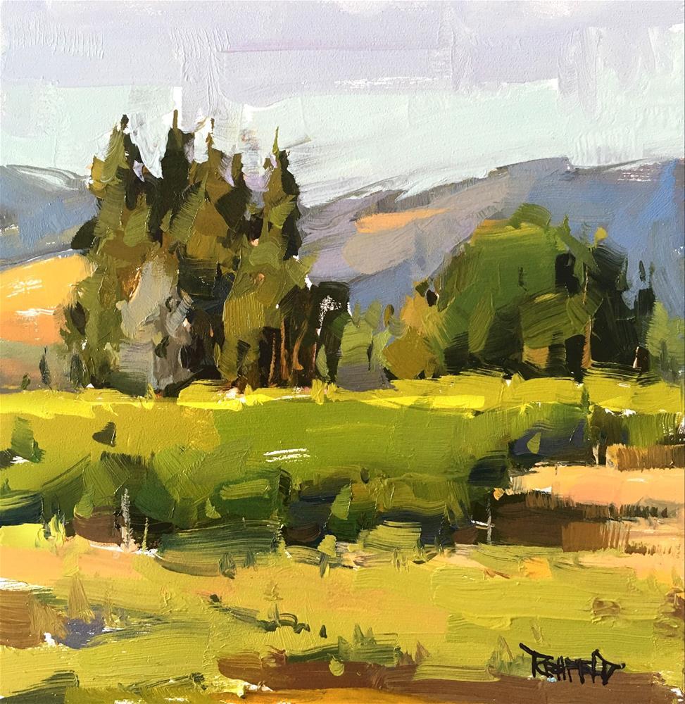 """Hood River Valley"" original fine art by Cathleen Rehfeld"