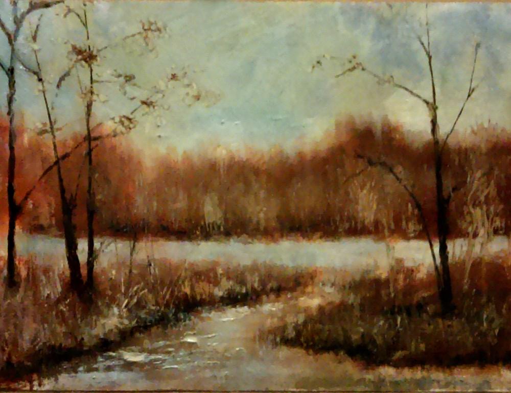 """The Old Reservoir"" original fine art by Bob Kimball"