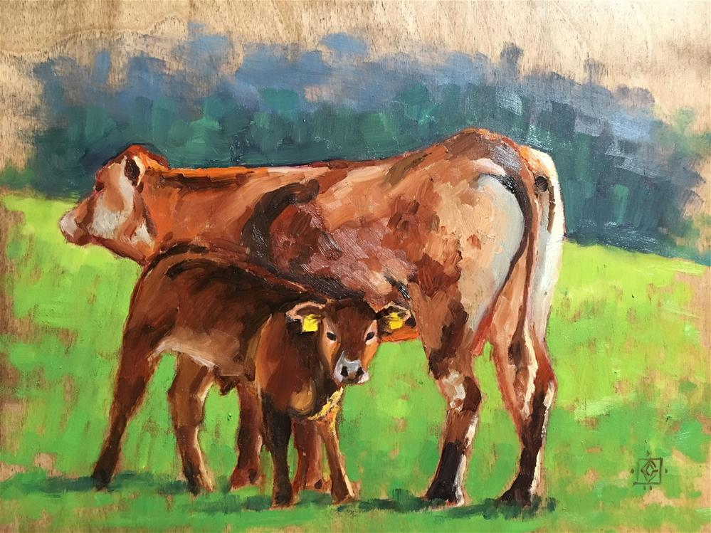 """Mother and Child"" original fine art by Carol Granger"
