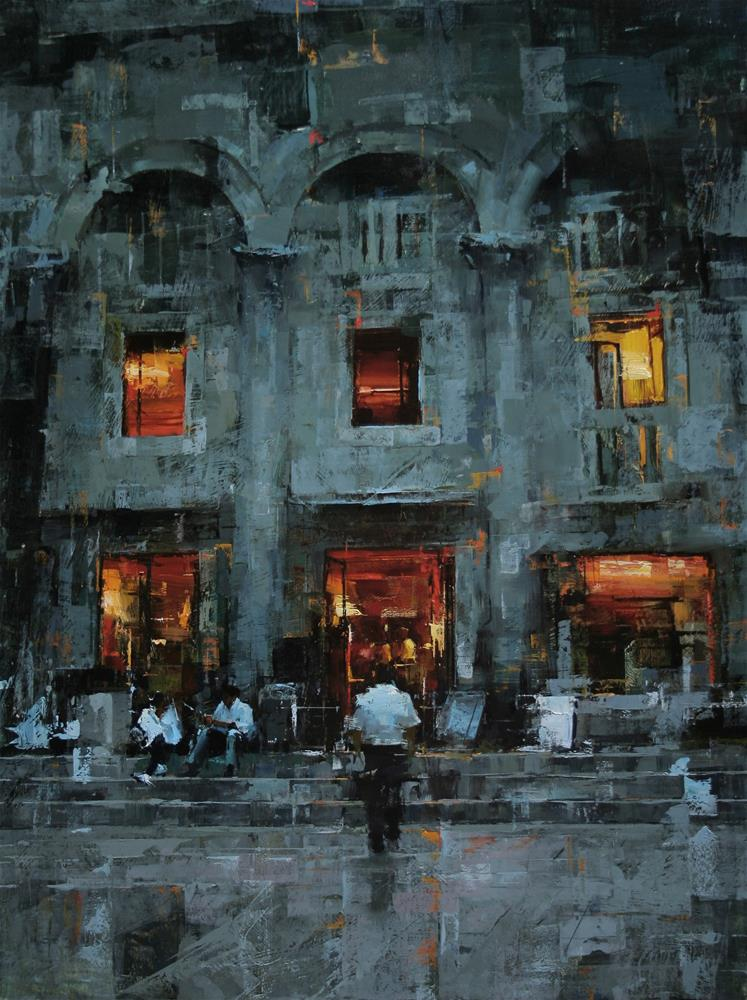 """Warm Night"" original fine art by Tibor Nagy"