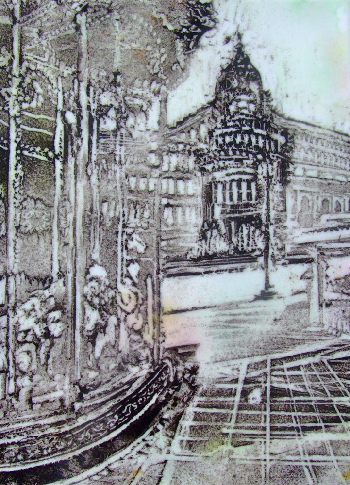 """Paris Carousel"" original fine art by Kelly Alge"