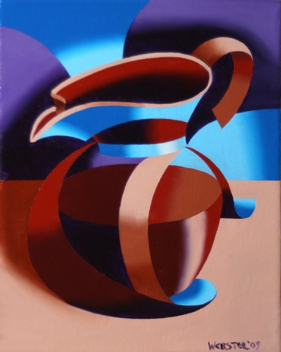 """""""Mark Webster - Abstract Coffee Pot Oil Painting"""" original fine art by Mark Webster"""