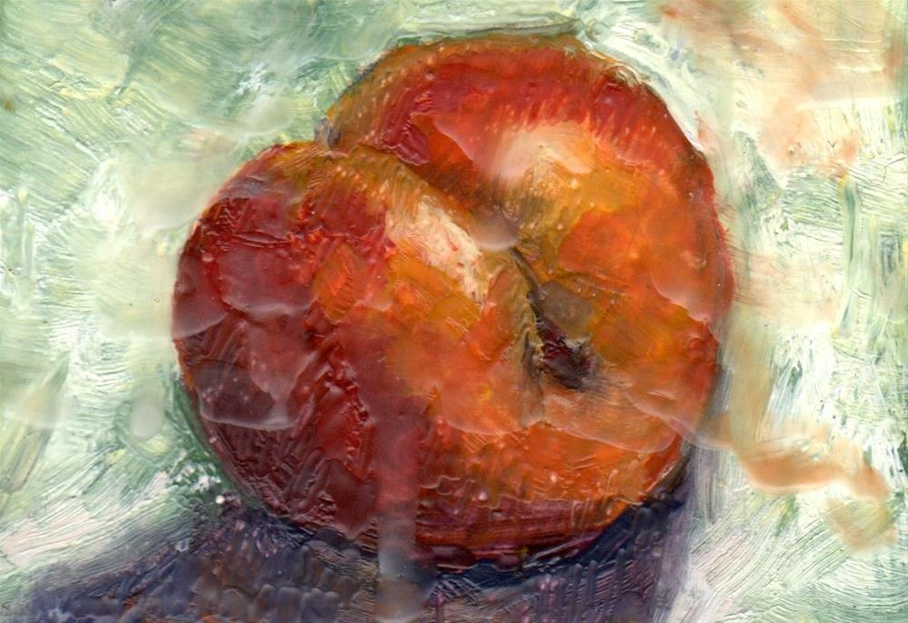 """Plum"" original fine art by Marlene Lee"