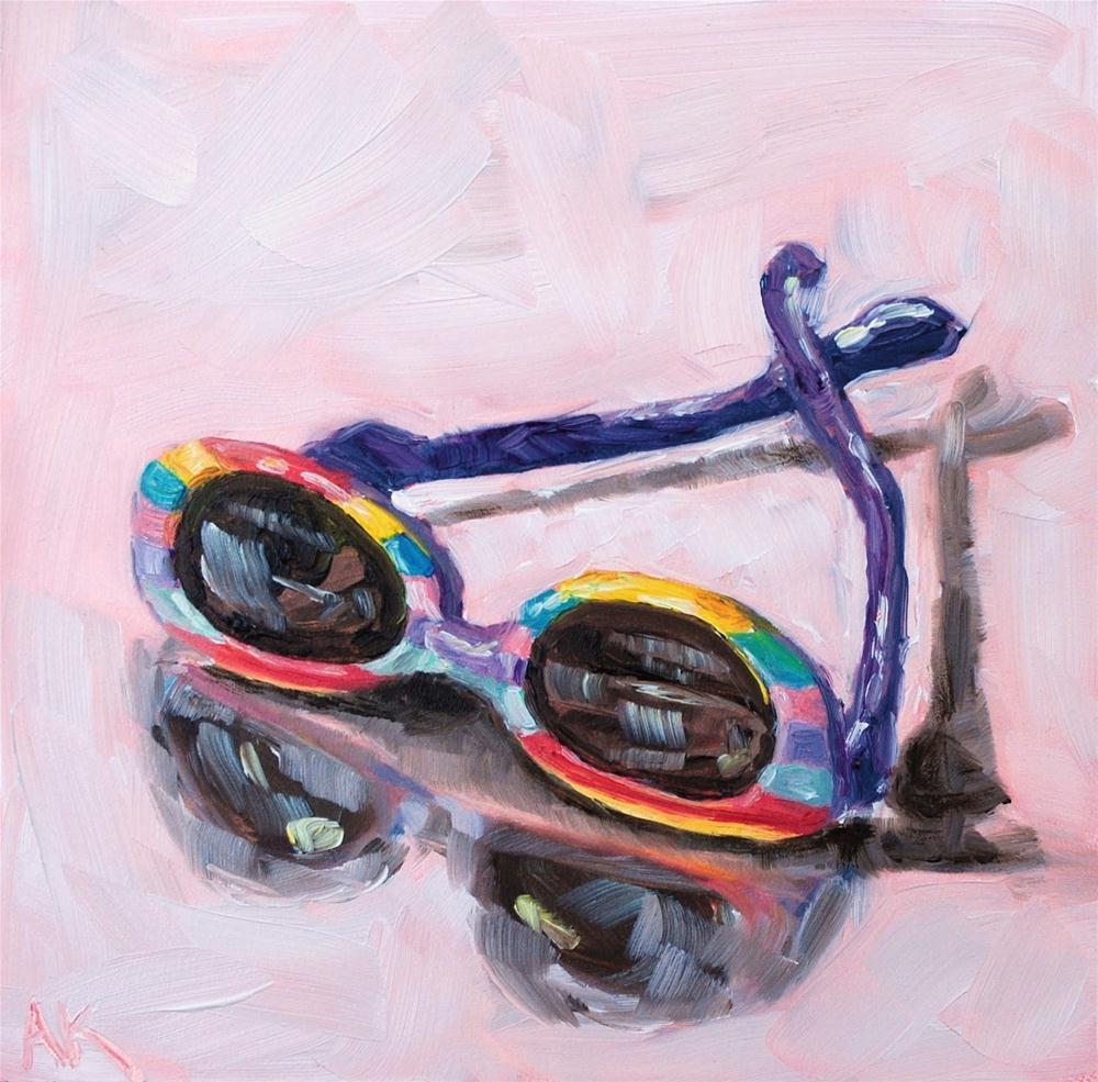 """My Daughter's Shades"" original fine art by Alison Kolkebeck"