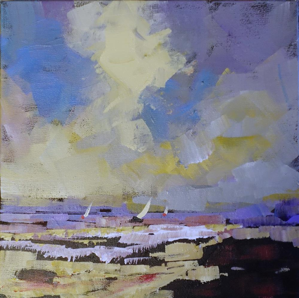 """Three at Sail"" original fine art by Brian Buckrell"