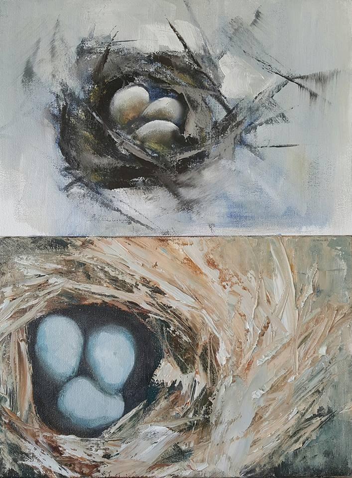 """Safehavens for KZN"" original fine art by Rentia Coetzee"