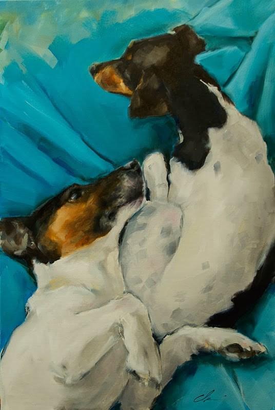 """Look at Me"" original fine art by Clair Hartmann"