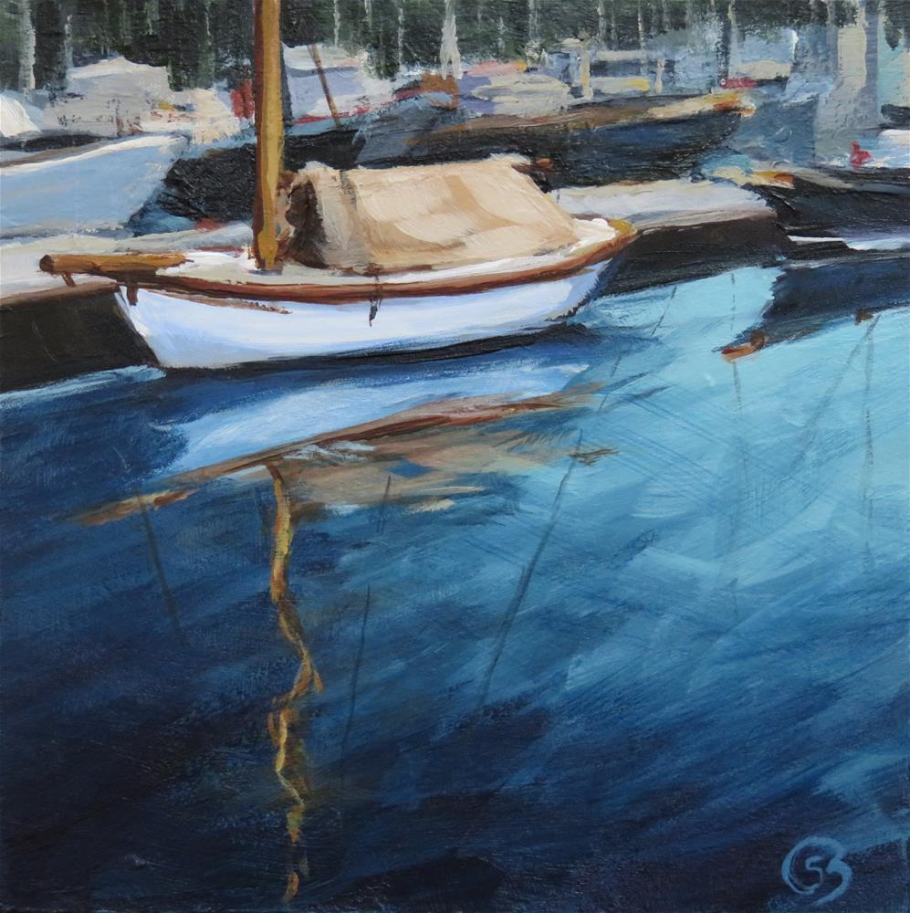 """Marina Morning"" original fine art by Shari Buelt"
