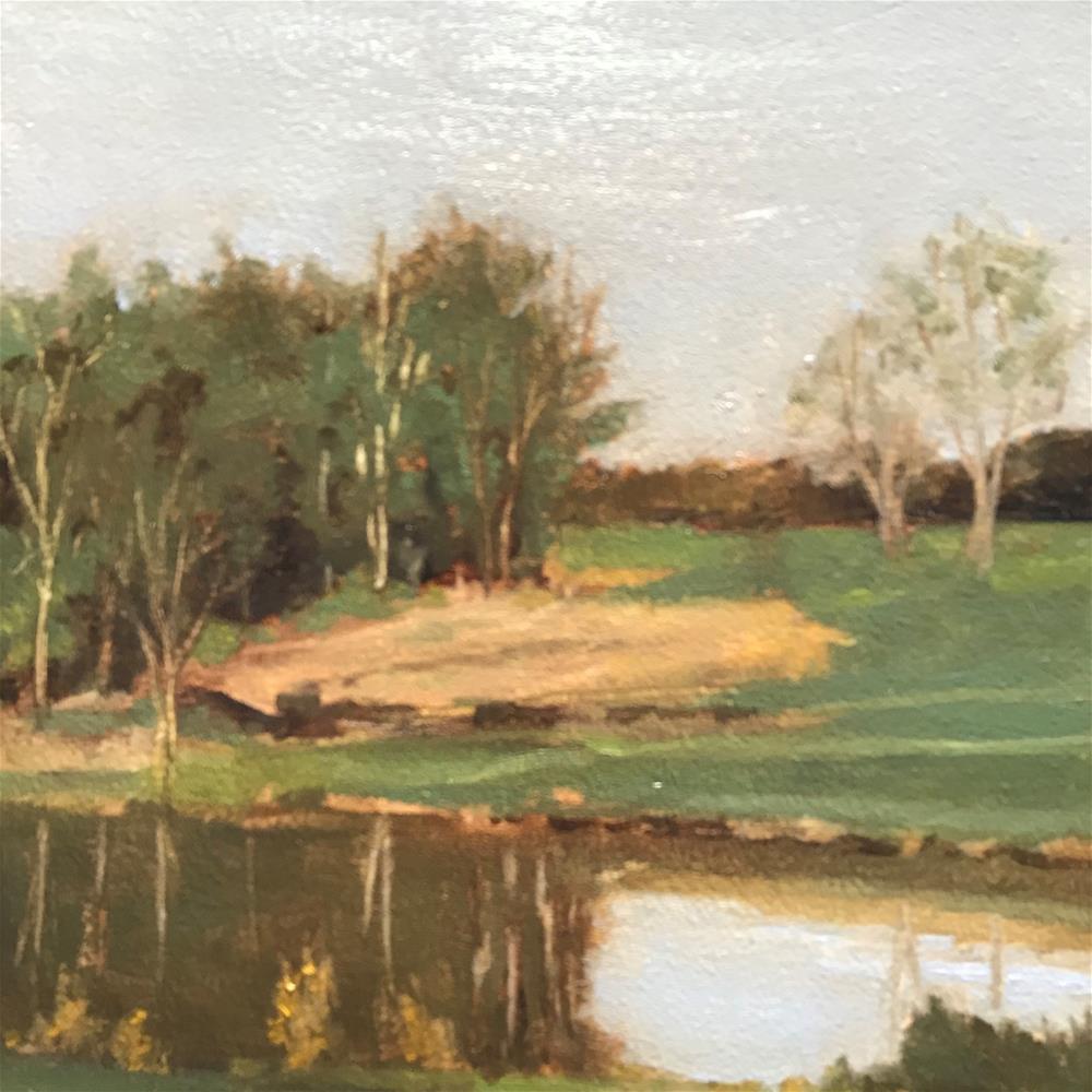 """""""The pond"""" original fine art by Betty Argiros"""