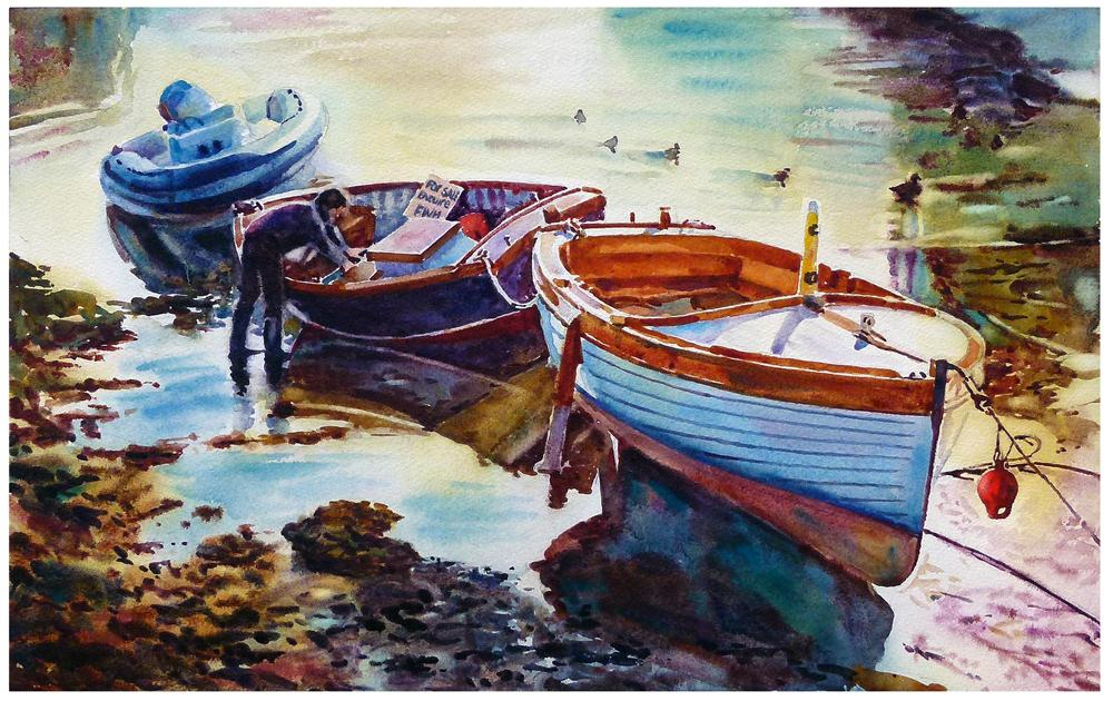 """Boat for sale"" original fine art by Graham Berry"