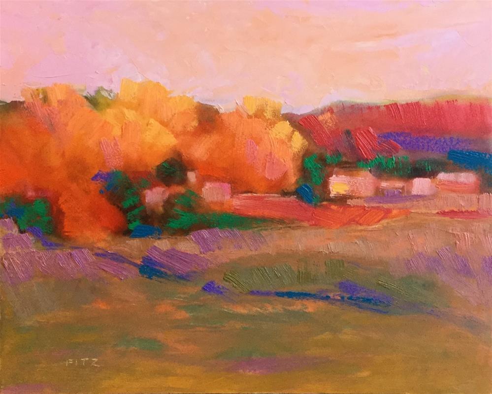 """Impasto Landscape Study 6"" original fine art by Charlotte Fitzgerald"