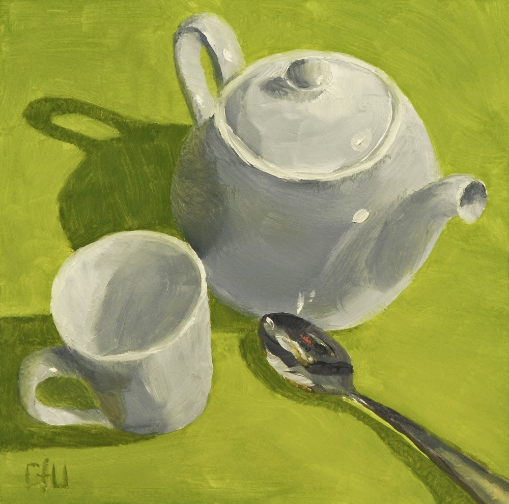 """""""Teapot Cup and Spoon"""" original fine art by Gary Westlake"""