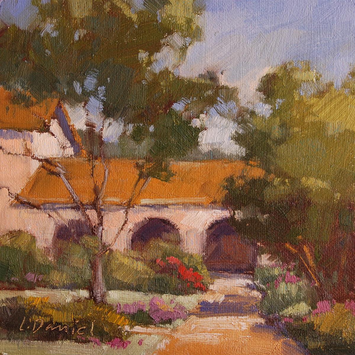 """""""Garden Quiet Study"""" original fine art by Laurel Daniel"""