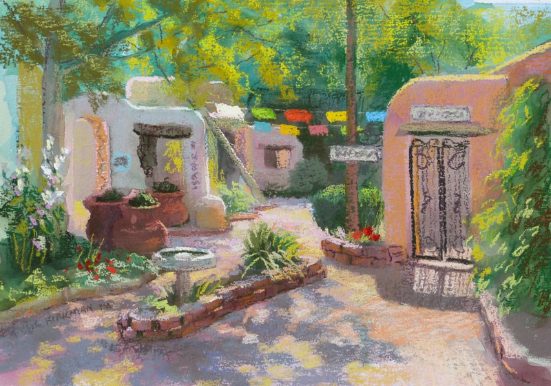 """Patio San Felipe del Norte"" original fine art by Rita Kirkman"
