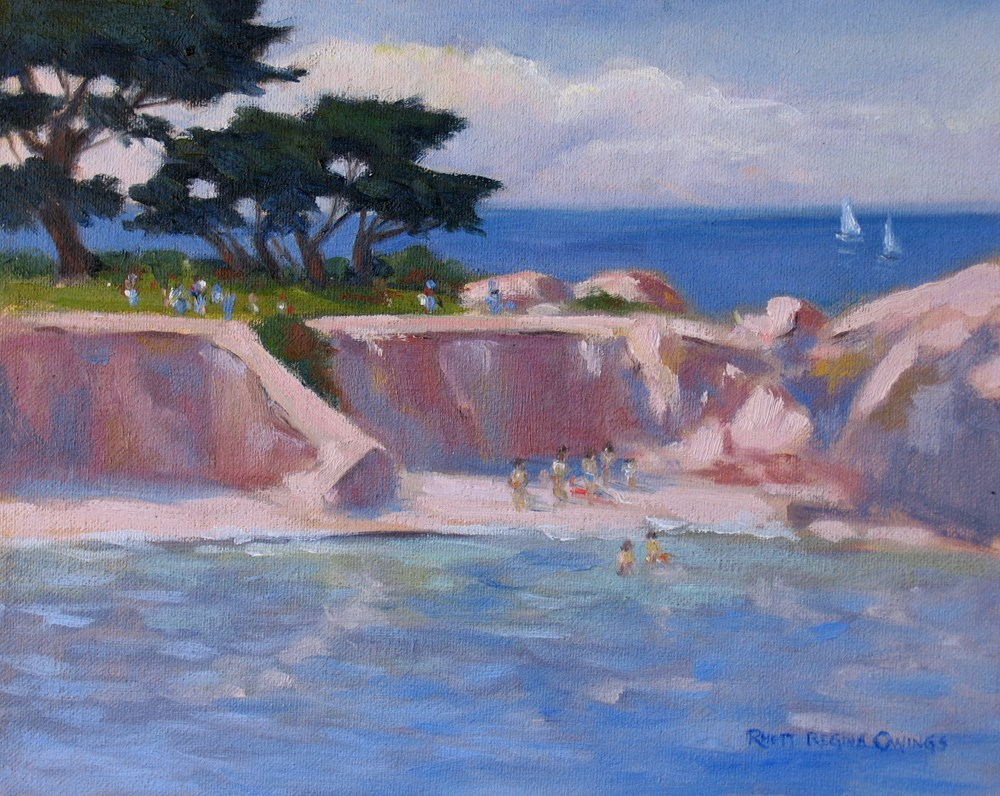 """Lazy Day at Lovers Point"" original fine art by Rhett Regina Owings"