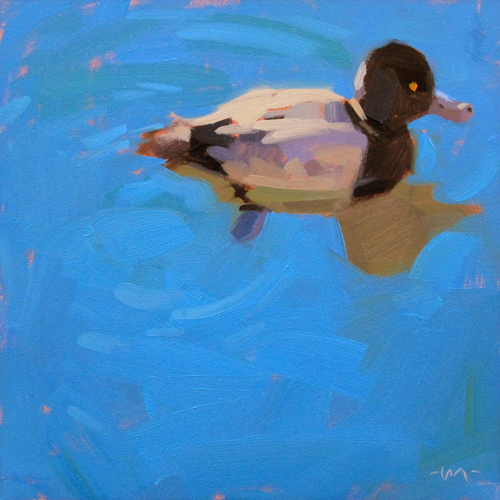 """Lucky Ducky"" original fine art by Carol Marine"