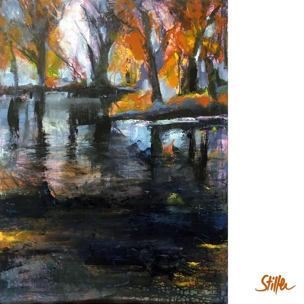 """3379 Dark November 19 - ForestLake"" original fine art by Dietmar Stiller"
