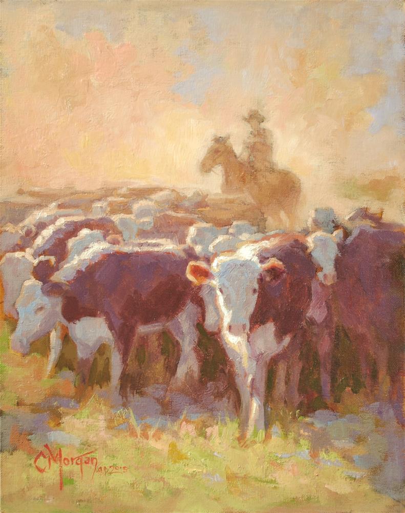 """Wrangler Memories #8"" original fine art by Cecile W. Morgan"