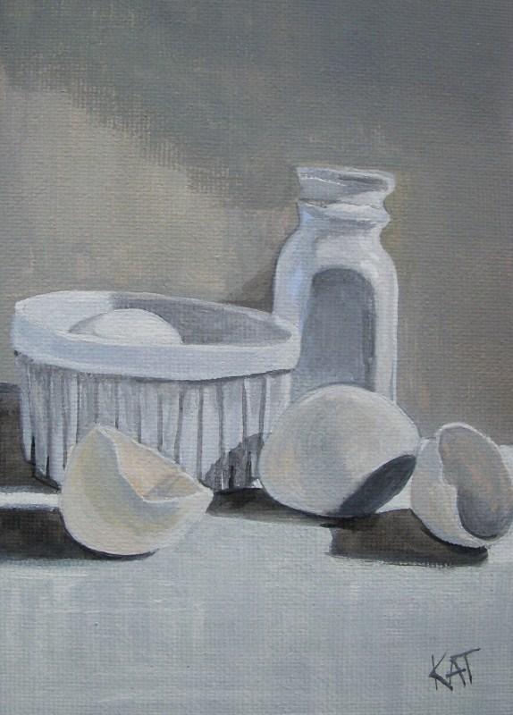 """White on White Challenge"" original fine art by Kathleen Carrier"