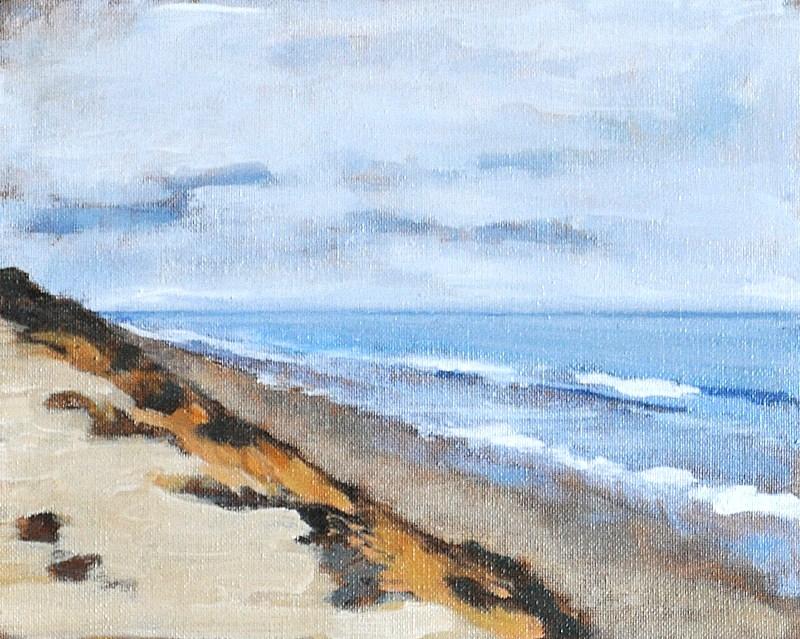 """San Onofre Seascape"" original fine art by Kevin Inman"